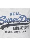 Superdry Womens Grey Vintage Logo Overdyed AOP Tee