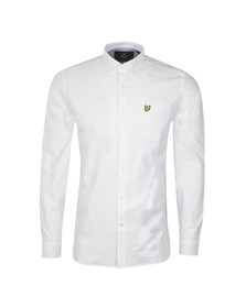 Lyle and Scott Mens White L/S Oxford Shirt