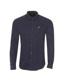 Lyle and Scott Mens Blue L/S Flannel Shirt