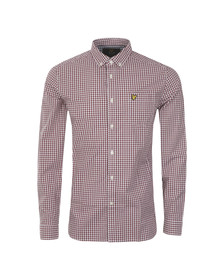 Lyle and Scott Mens Red Gingham Check LS Shirt