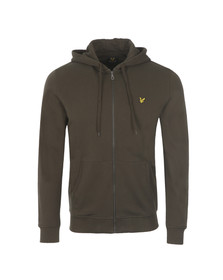 Lyle and Scott Mens Green Full Zip Hooded Sweat