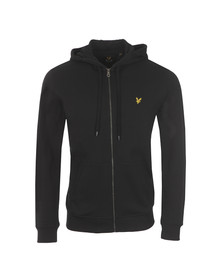 Lyle and Scott Mens Black Full Zip Hooded Sweat