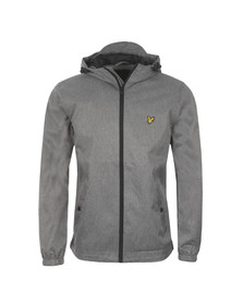 Lyle and Scott Mens Grey Zip Through Hooded Jacket