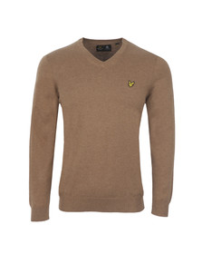 Lyle and Scott Mens Brown V Neck Jumper