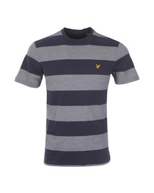 Lyle and Scott Mens Blue Wide Stripe Tee