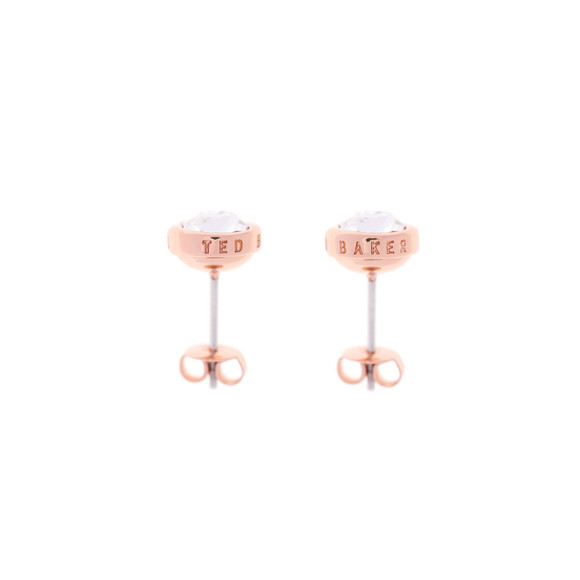 Ted Baker Womens Pink Sinaa Crystal Stud Earrings