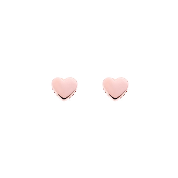 Ted Baker Womens Pink Rose Gold Harly Tiny Heart Stud Earring main image