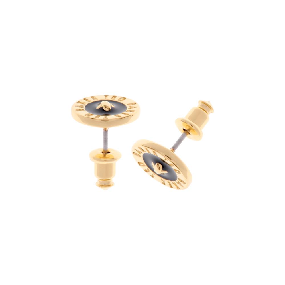 f6544c50c5953d Ted Baker Tempany Enamel Logo Button Stud Earrings