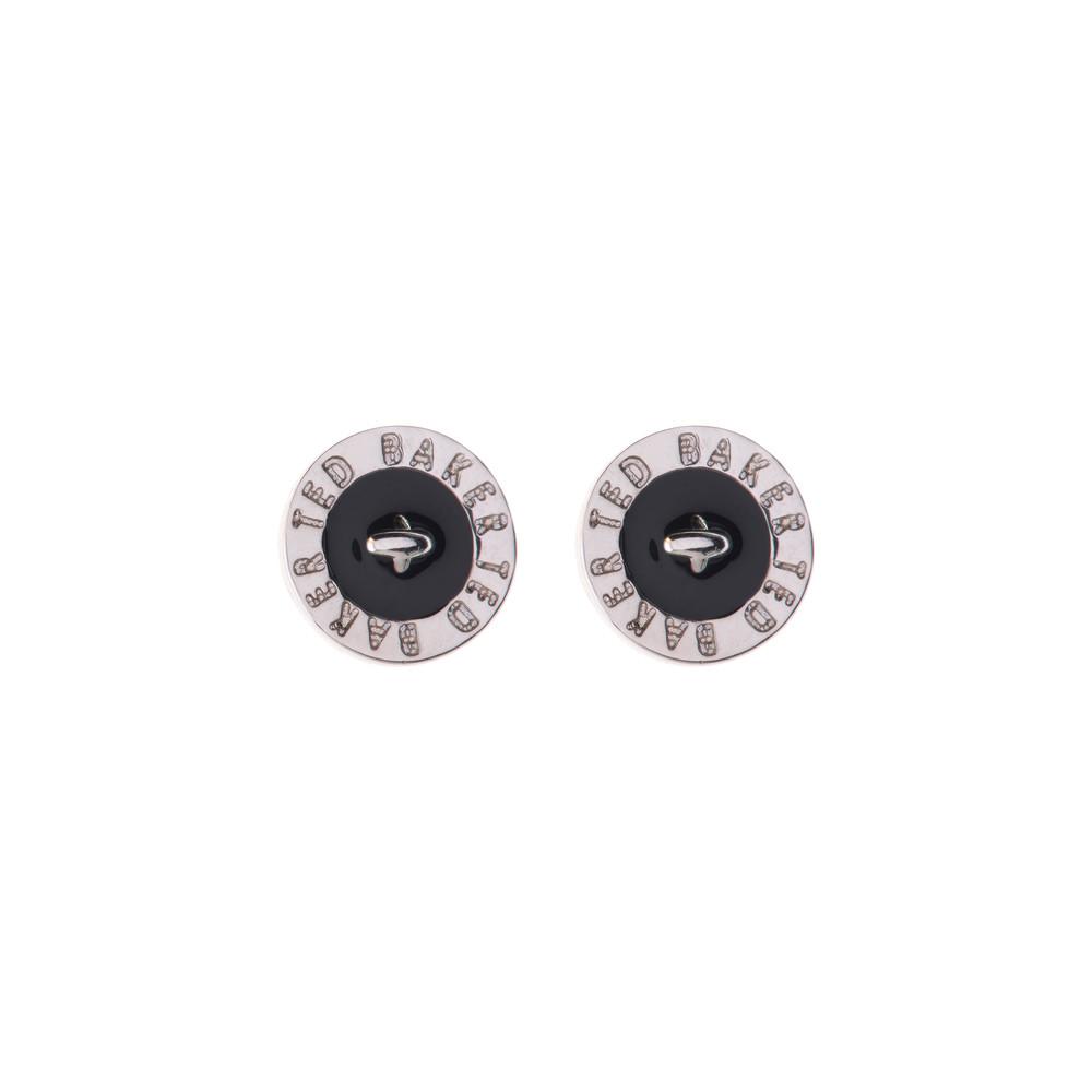 09c3ade9b Ted Baker Tempany Enamel Logo Button Stud Earrings | Masdings