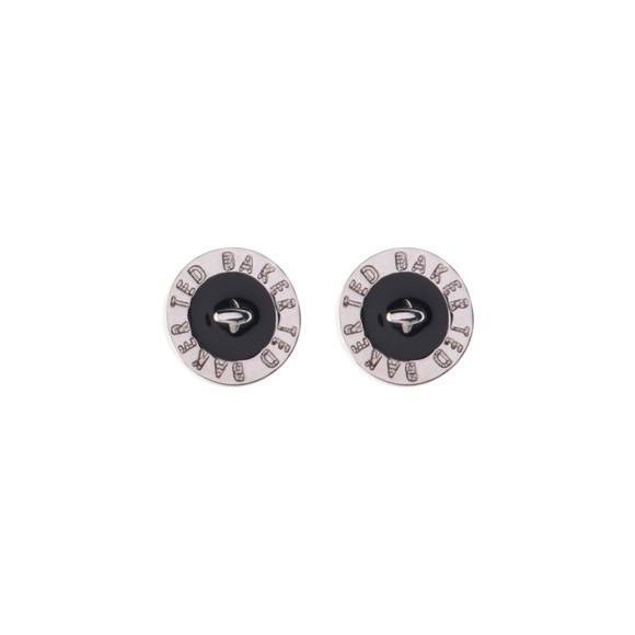 47535d2f1 Ted Baker Womens Silver Tempany Enamel Logo Button Stud Earrings main image