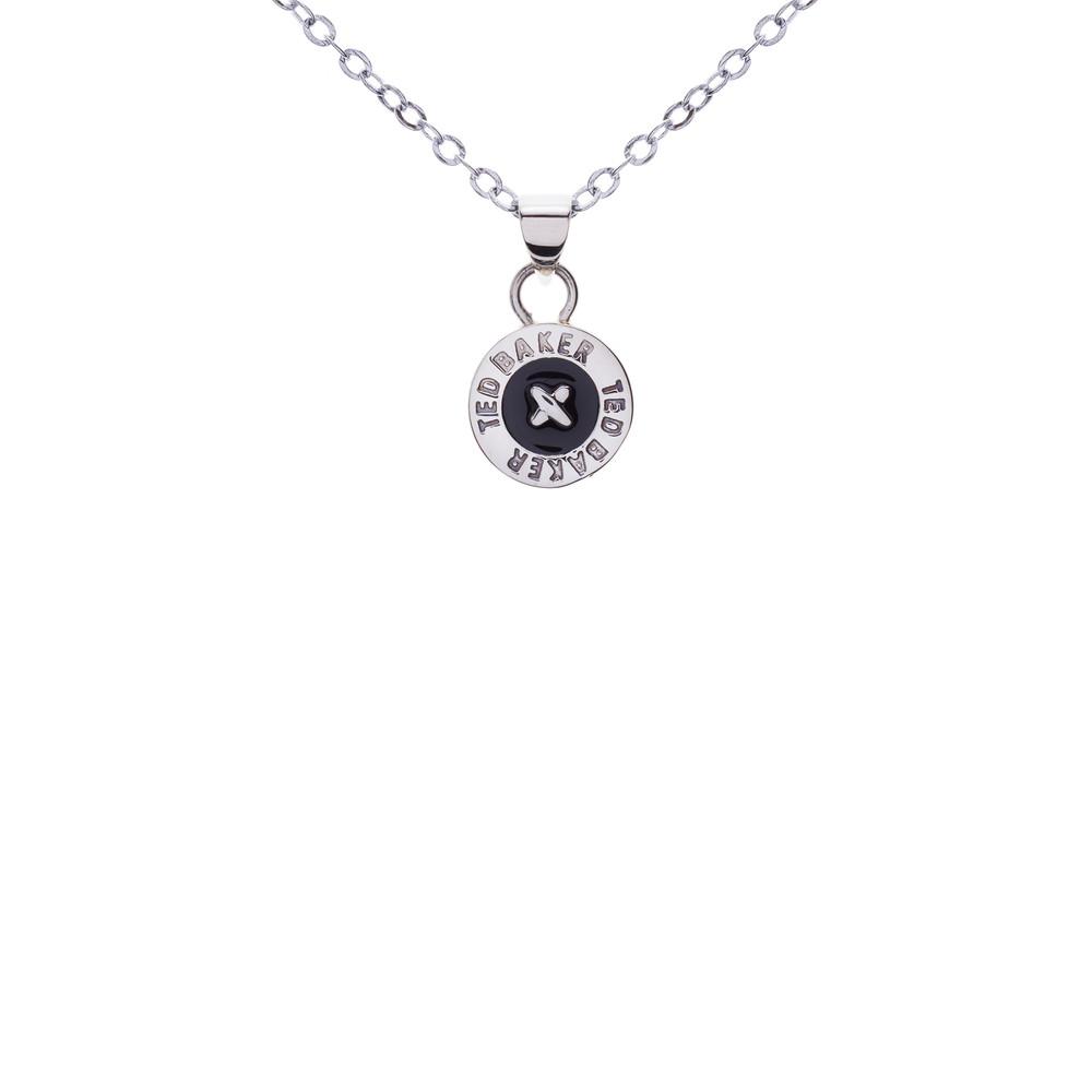 Tella Enamel Button Pendant Necklace main image