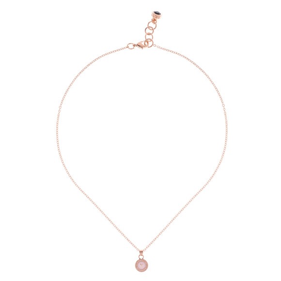 Ted Baker Womens Pink Tella Enamel Button Pendant Necklace main image