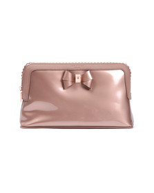 Ted Baker Womens Pink Ardith Scallop Edge Large Wash Bag