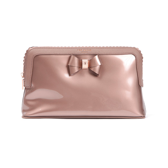 Ted Baker Womens Pink Ardith Scallop Edge Large Wash Bag main image