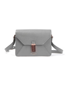 Ted Baker Womens Grey Ellen Caviar Leather Xbody Bag
