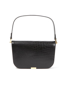 Ted Baker Womens Black Melaney Exotic Metal Bar Shoulder Bag