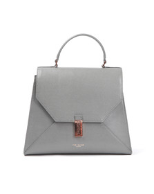 Ted Baker Womens Grey Ellice Caviar Leather Top Handle Bag