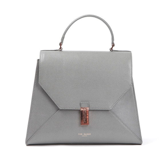 Ted Baker Womens Grey Ellice Caviar Leather Top Handle Bag main image