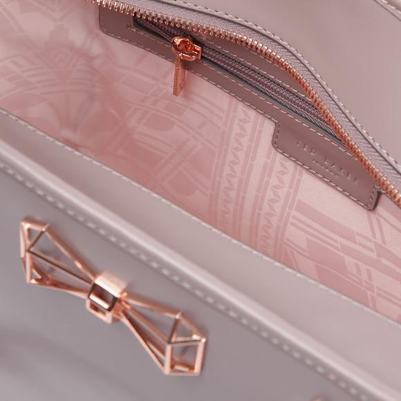 Ted Baker Womens Purple Jalie Geometric Bow Leather Shopper main image