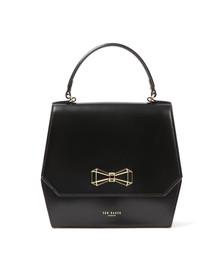 Ted Baker Womens Black Gerri Geometric Bow Top Handle Bag