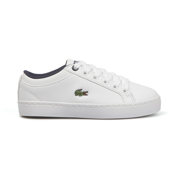 Lacoste Sport Boys White Straightset Lace Trainer main image