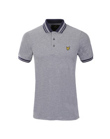 Lyle and Scott Mens Blue S/S Oxford Polo