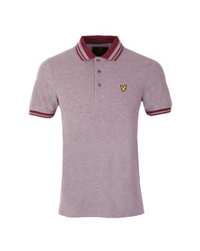 Lyle and Scott Mens Red S/S Oxford Polo