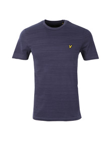Lyle and Scott Mens Blue S/S Space Dye Tee