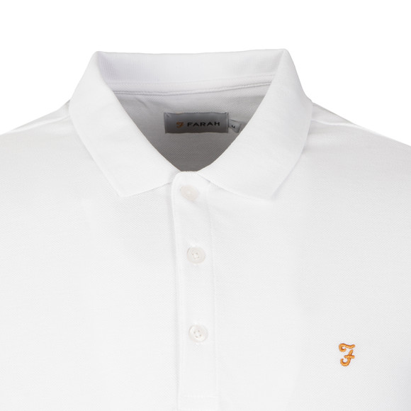 Farah Mens White Blaney Polo Shirt main image