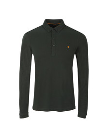 Farah Mens Green Merriweather L/S Polo Shirt