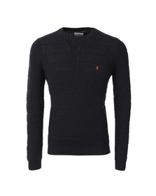Farah Mens Blue Hewlett Crew Jumper