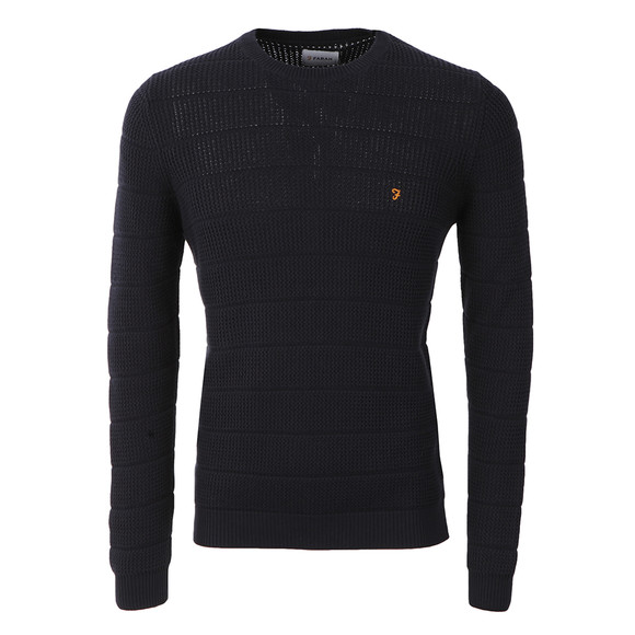 Farah Mens Blue Hewlett Crew Jumper main image