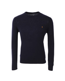 Farah Mens Blue Rosecroft Knitted Crew Jumper