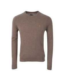 Farah Mens Grey Rosecroft Knitted Crew Jumper