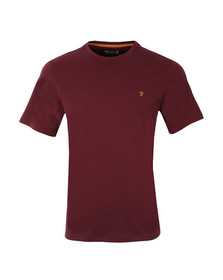 Farah Mens Red S/S Denny Marl T-Shirt