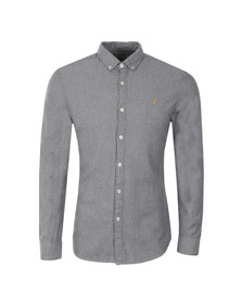 Farah Mens Grey L/S Wes Shirt