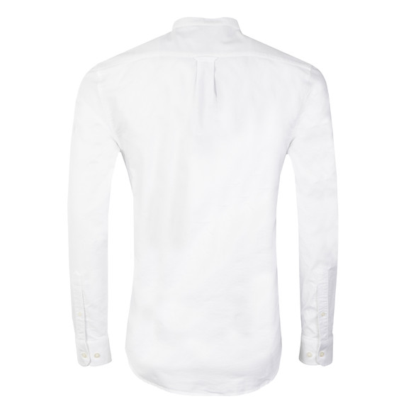 Farah Mens White Brewer L/S Grandad Shirt main image