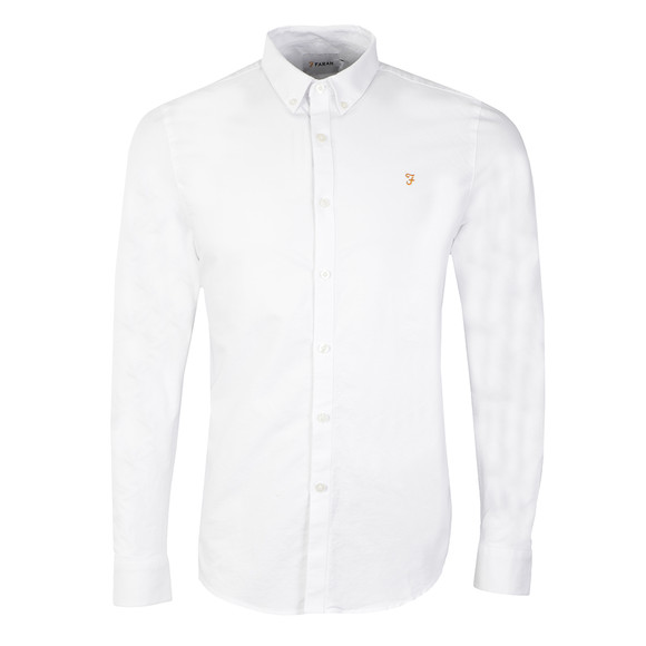 Farah Mens White Brewer Oxford Shirt main image