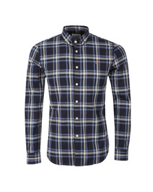 Farah Mens Blue L/S Fal Check Shirt
