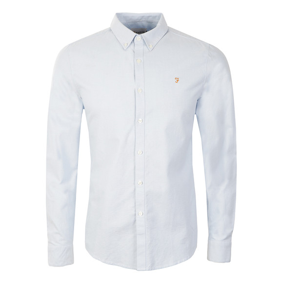 Farah Mens Blue Brewer L/S Oxford Shirt main image
