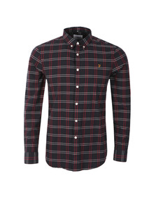 Farah Mens Blue L/S Lynton Shirt