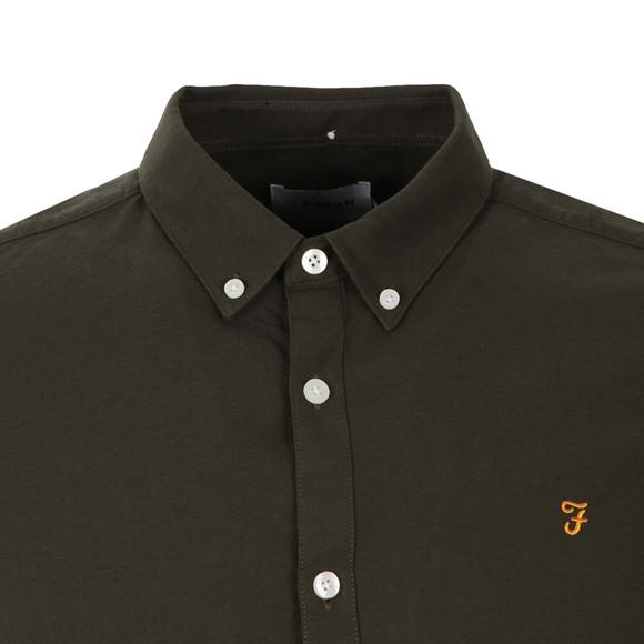 Farah Mens Green Brewer L/S Oxford Shirt main image