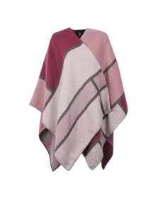 Ted Baker Womens Pink Mondi Oversized Check Scarf Cape