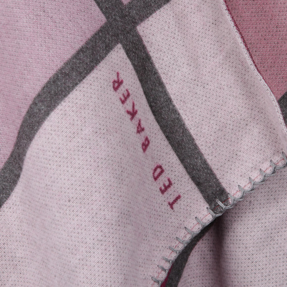Ted Baker Womens Pink Mondi Oversized Check Scarf Cape main image
