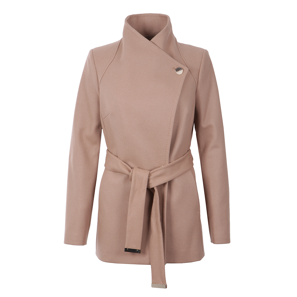 906232474 Ted Baker Elethea Short Wrap Collar Coat