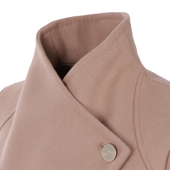 Ted Baker Womens Brown Elethea Short Wrap Collar Coat main image