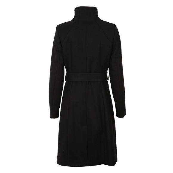 Ted Baker Womens Black Afina Contrast Lepel Long Wrap Coat main image