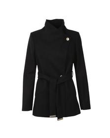 Ted Baker Womens Black Elethea Short Wrap Collar Coat