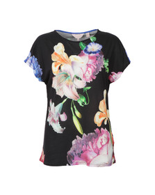 Ted Baker Womens Black Woesy Tapestry Flora Tee