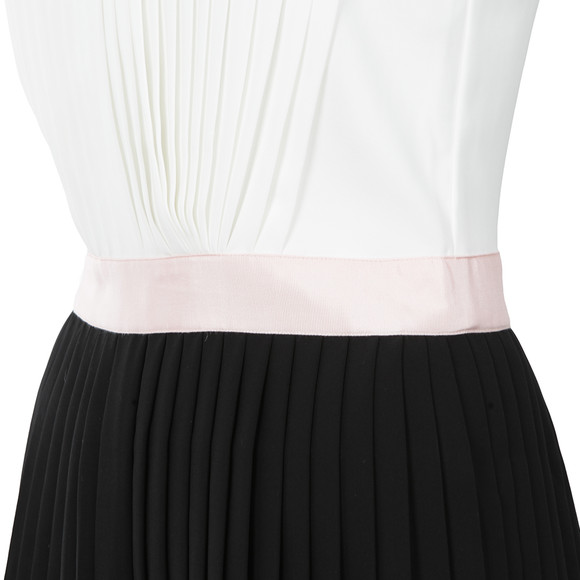 Ted Baker Womens Black Glina Pleated Contrast Dress main image